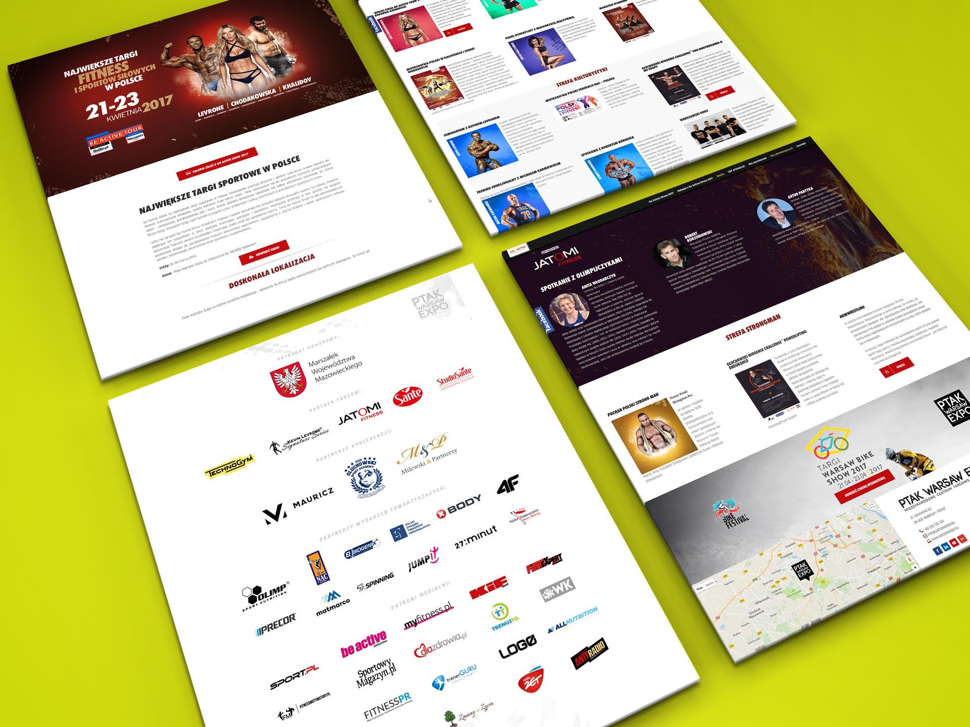 Strona internetowa dla największych targów sportowych