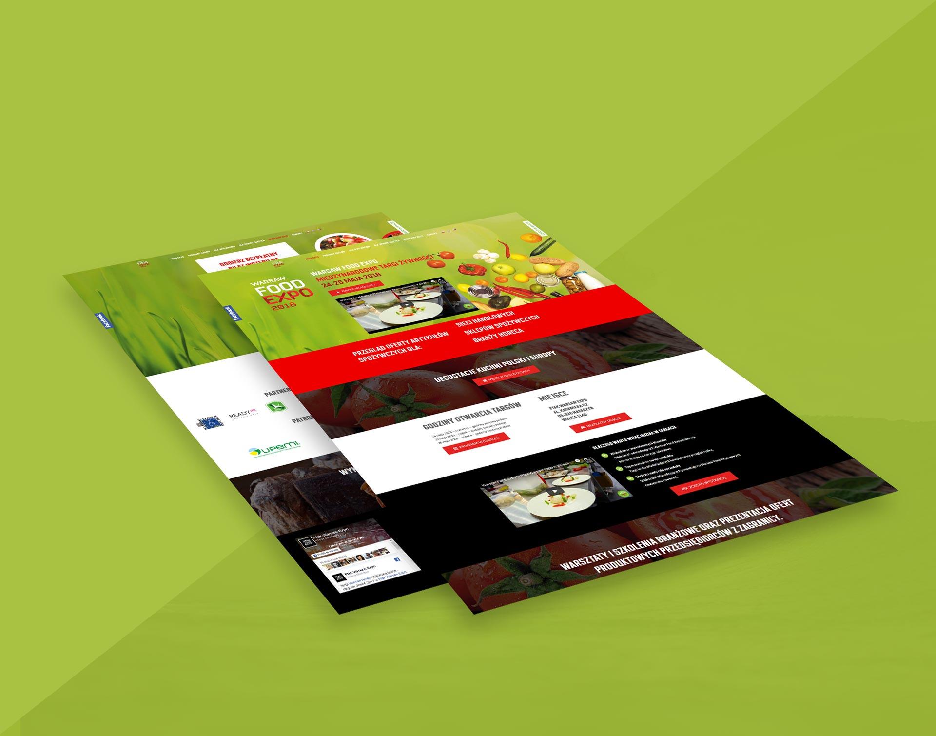 Strona internetowa Warsaw Food Expo