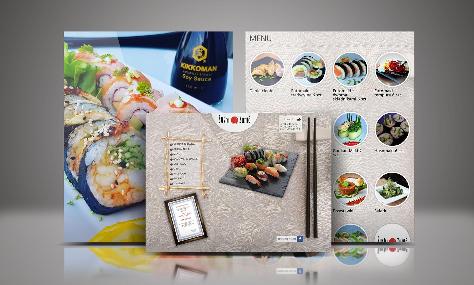 Prezentacja strony internetowej dla restauracji Sushi